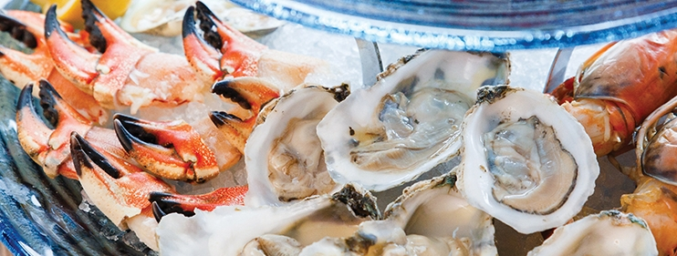 oysters and crabs