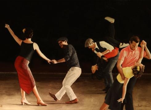 Lindy Hop Paintings of America's Most Beautiful Folk Dance by Seth Harris