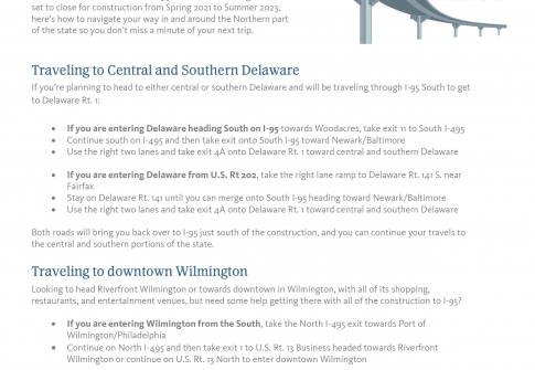 Information For Those Traveling to Delaware via I-95